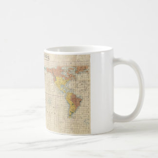 1853 Japanese world map by Suido Nakajima Classic White Coffee Mug