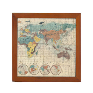 Desk organizer zazzle 1853 japanese world map by suido nakajima pencil holder gumiabroncs Gallery