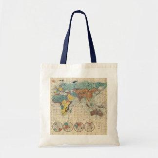 1853 Kaei 6 Japanese Map of the World Bag