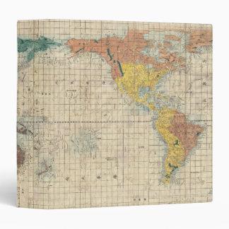 1853 Kaei 6 Japanese Map of the World Binder