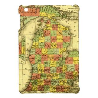 1853 Vivid Map of Michigan Show true allegiance MI iPad Mini Cases