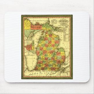 1853 Vivid Map of Michigan Show true allegiance MI Mouse Pad