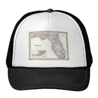 1855 Colton Map of Florida Trucker Hat
