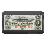 1855 New Haven Five Dollar Note Barely There iPod Cover