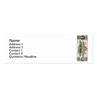 1855 New Haven Five Dollar Note Double-Sided Mini Business Cards (Pack Of 20)