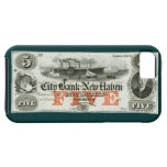 1855 New Haven Five Dollar Note iPhone 5 Cover