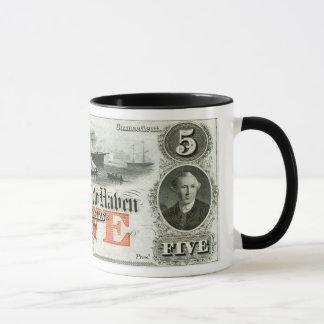 1855 New Haven Five Dollar Note Mug