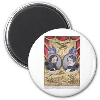 1856 Fremont - Dayton Republican 2 Inch Round Magnet