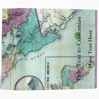 1856 Government Map of Nicaragua by A.H. Jocelyn 3 Ring Binder