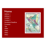 1856 Government Map of Nicaragua by A.H. Jocelyn Large Business Cards (Pack Of 100)