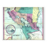 1856 Government Map of Nicaragua by A.H. Jocelyn 4.25x5.5 Paper Invitation Card