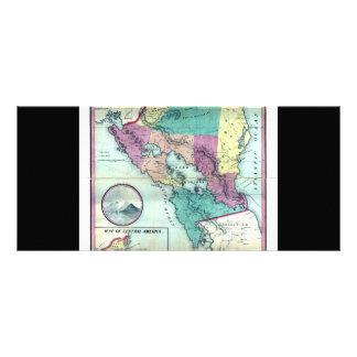 1856 Government Map of Nicaragua by A.H. Jocelyn Rack Card
