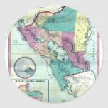 1856 Government Map of Nicaragua by A.H. Jocelyn Classic Round Sticker