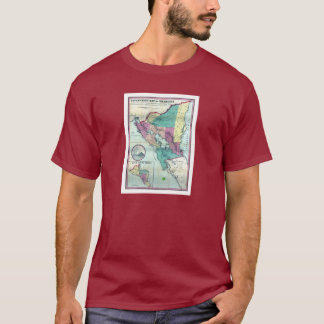 1856 Government Map of Nicaragua by A.H. Jocelyn T-Shirt