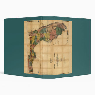1856 Map of the State of Florida by Columbus Drew 3 Ring Binder