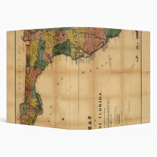 1856 Map of the State of Florida by Columbus Drew 3 Ring Binders