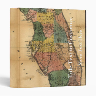 1856 Map of the State of Florida by Columbus Drew Vinyl Binder