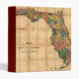 1856 Map of the State of Florida by Columbus Drew Binder