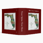 1856 Map of the State of Florida by Columbus Drew Vinyl Binders