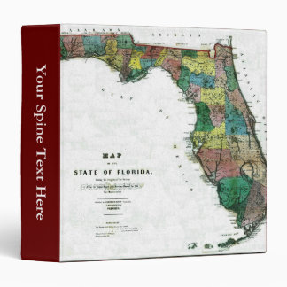 1856 Map of the State of Florida by Columbus Drew Binders