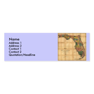 1856 Map of the State of Florida by Columbus Drew Business Cards