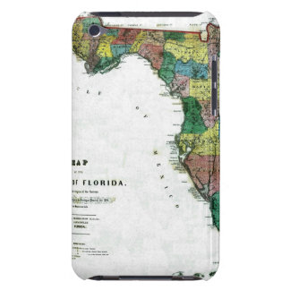 1856 Map of the State of Florida by Columbus Drew Barely There iPod Covers