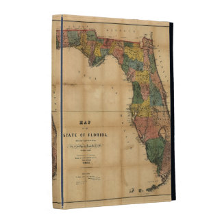 1856 Map of the State of Florida by Columbus Drew iPad Folio Cases