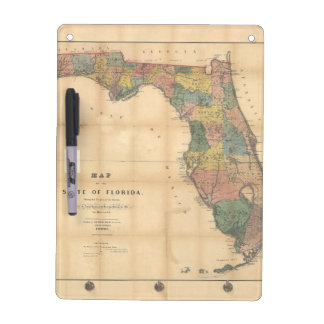 1856 Map of the State of Florida by Columbus Drew Dry Erase Board