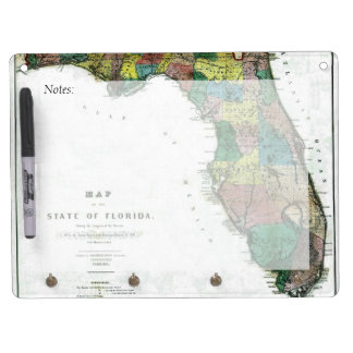 1856 Map of the State of Florida by Columbus Drew Dry-Erase Whiteboard