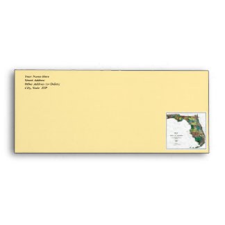 1856 Map of the State of Florida by Columbus Drew Envelopes