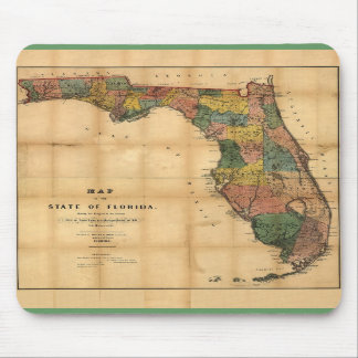 1856 Map of the State of Florida by Columbus Drew Mouse Pad