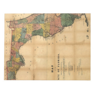1856 Map of the State of Florida by Columbus Drew Memo Pads