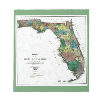 1856 Map of the State of Florida by Columbus Drew Memo Note Pad