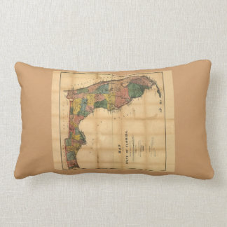 1856 Map of the State of Florida by Columbus Drew Throw Pillows