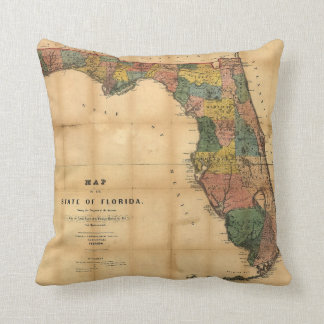 1856 Map of the State of Florida by Columbus Drew Pillow