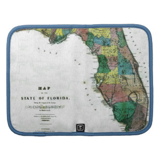 1856 Map of the State of Florida by Columbus Drew Folio Planner