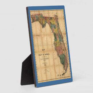 1856 Map of the State of Florida by Columbus Drew Photo Plaque