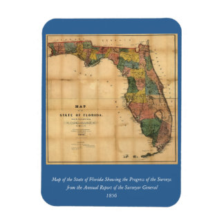 1856 Map of the State of Florida by Columbus Drew Flexible Magnet