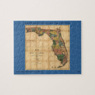 1856 Map of the State of Florida by Columbus Drew Jigsaw Puzzles