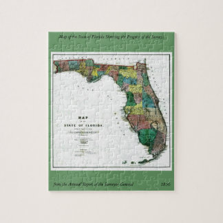 1856 Map of the State of Florida by Columbus Drew Puzzles