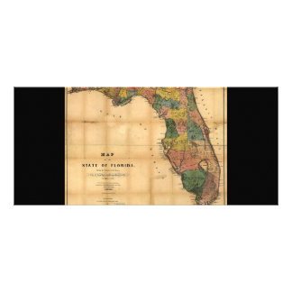 1856 Map of the State of Florida by Columbus Drew Custom Rack Cards