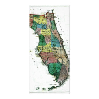 1856 Map of the State of Florida by Columbus Drew Rack Card