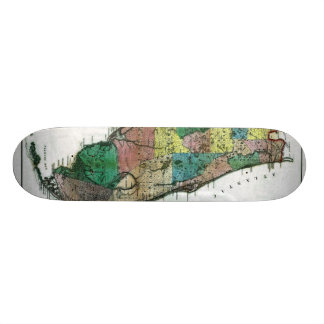 1856 Map of the State of Florida by Columbus Drew Skate Decks