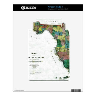 1856 Map of the State of Florida by Columbus Drew Skin For Kindle 3