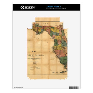 1856 Map of the State of Florida by Columbus Drew Kindle Skins