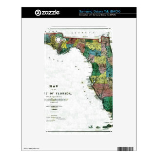 1856 Map of the State of Florida by Columbus Drew Samsung Galaxy Tab Skin