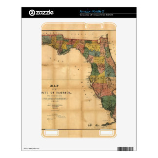 1856 Map of the State of Florida by Columbus Drew Decal For Kindle