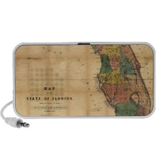 1856 Map of the State of Florida by Columbus Drew Laptop Speakers