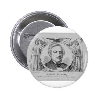 1856 Millard Filmore Pinback Button
