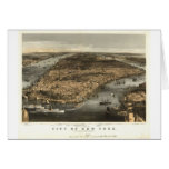 1856 New York City NY Birds Eye View by Currier Greeting Cards